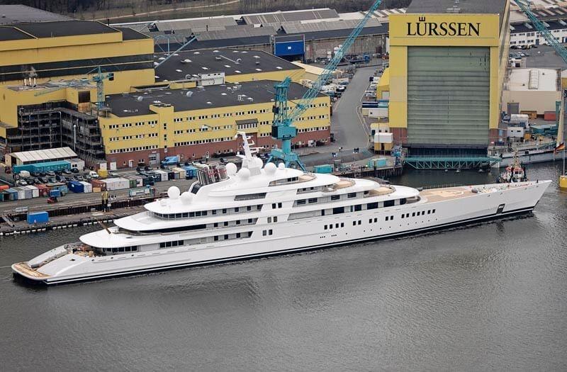 Azzam Lurssen Worlds Largest Yacht Aerial